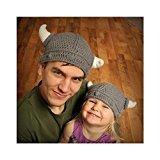 der Bonnet Neugeborenen Handarbeit Häkelarbeit Hut Viking Hörner Strickmütze (Viking Hüte)