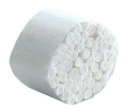 Premium Qualität 100 % Baumwollen Rollen. 50 Bauschen pro Packung für das Weißen von Zähnen oder die Aufnahme von Speichel.