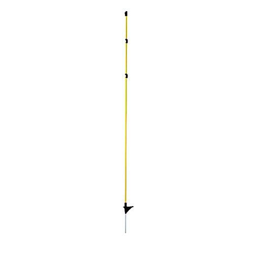 *10 Stück Fiberglaspfahl oval gelb-schwarz mit 13 cm Metallspitze Weidezaunpfahl*