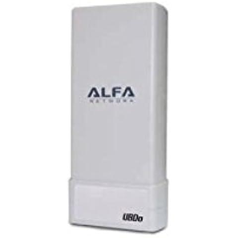Alfa Network UBDO-NT - Adaptador WiFi USB 802.11b / g / n, largo alcance, radio, con 12 dBi antena integrada, cable de 5