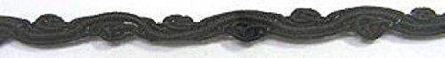 16,40m Posamentenborte Webband 8mm breit Farbe: Schwarz 3201-022