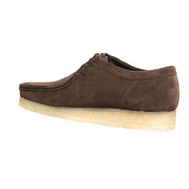 Clarks Originals Wallabee scarpe Marrone (Dark Brown Suede)