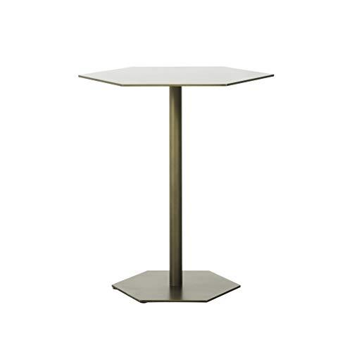 End Tables Mesas Laterales pequeñas de Hierro Forjado Simple, Mesa de Lado...