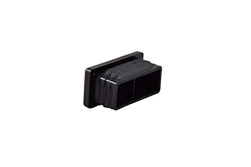 GLEITGUT 4 x Lamellenstopfen 40x20 mm Endkappen für Vierkantrohr Stuhlstopfen rechteckig - Stahl-rohr-kappen
