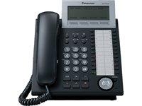 Panasonic KX-NT346NE-B IP-Systemtelefon (6-Zeilen Display, 24 Tasten, Freisprechen, HS Anschluss, Switch, opt. Erweiterungskonsole) schwarz