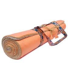 shop for best low priced select for best Holistic Silk Tapis de Yoga Orange