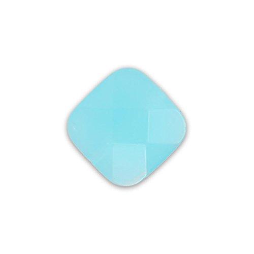 Quadrato sfaccettato mm.10 Aquamarine Opal x1