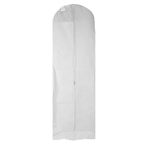 Preisvergleich Produktbild Non-Woven Anti-Dust Wedding Dress Gown Garment Bag Storage Protector Cover Clothes Organization Clear Zipped Pocket