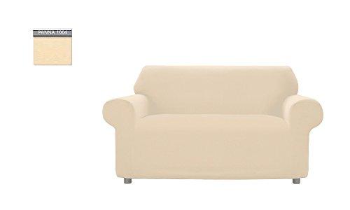 Copridivano genius tinta unita, per divano 2 posti, colore panna 1004