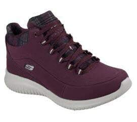 Skechers Damen Stiefeletten Ultra Flex JUST CHILL Bordeaux, Schuhgröße:EUR 40 -