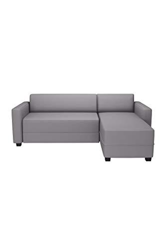 Finlandek canapé d'angle réversible Convertible kulma 3 Places - 206x146x70 cm - Tissu - Gris