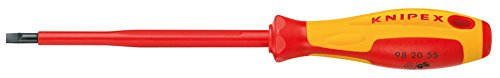 KNIPEX 98 20 35 Schraubendreher für Schlitzschrauben 202 mm