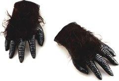 Gorilla Lustige Kostüm - Bristol Novelty BA104 Gorilla Hände, Unisex- Erwachsene, schwarz, Einheitsgröße