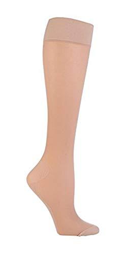 Sock Shop 1 paar damen lang reisestrümpfe flug kompression für thrombose 37-40 eur (Natürlich)