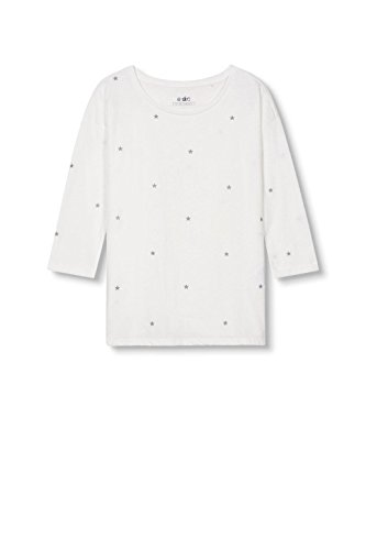 edc by Esprit 017cc1k046, T-Shirt Femme Blanc (off White 110)