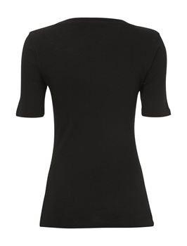 Bases De Great Plains 3/4 Tour De Cou Womens T-shirt Black