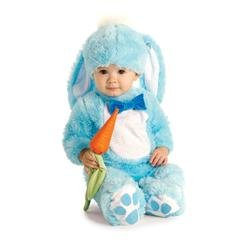 Handsome lil 'wabbit - blu - baby grow - childrens costume - 0-6 mesi
