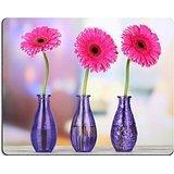 luxlady Gaming Mousepad Bild-ID: 22351767Schönes Rosa Gerbera Blumen in Vasen auf Holz Tisch