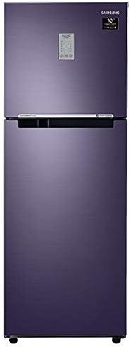 Samsung 253L 2 Star Inverter Frost Free Double Door Refrigerator (RT28T3782UT/HL, Pebble Blue, Convertible)