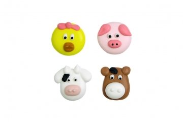 Hand Made Edible Farm Theme Cake Decorations - 12 Pack