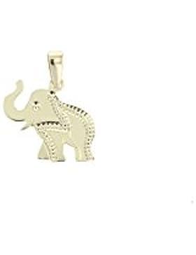 Goldanhänger Elefant in 585 Gold 14 Karat Kettenanhänger Gelbgold Schmuck 2724