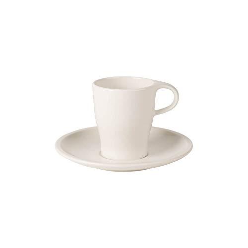 Villeroy & Boch Coffee Passion Set expresso, 2 pièces, Porcelaine Premium, Blanc