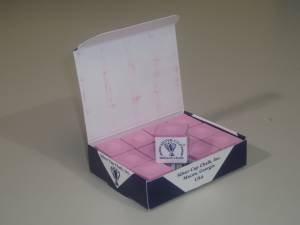 Silver Cup Billardkreide, Rosa, 12 Stück