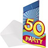 8x Einladung Geburtstag Zahl 50 Geburtstagsparty