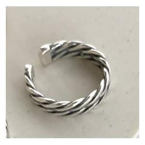 Rings Home Linea d'Argento Antica Doppia Fila Intrecciata di Ebay AliExpress S925 (Shape : 1)