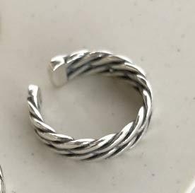 Rings Home Ebay AliExpress S925 Sterlingsilber doppelt verdrehte Linie antiker Alter offener Ring (Shape : 1)