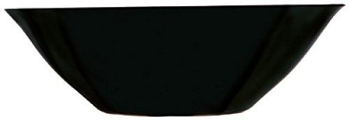 Luminarc D2376 Saladier 27 cm-Carine Noir, Opale-Verre trempé