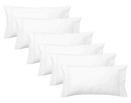 ADP Home - Pack de 6 Und. Funda de Almohada de 90, 50/50% POLIALGODÓN, Textil para HOSTELERÍA, Medida...