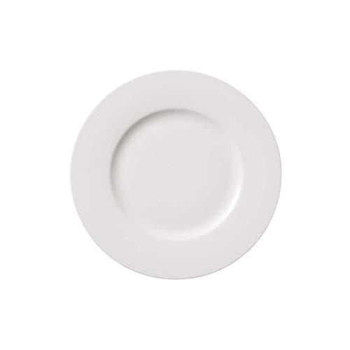 Villeroy & Boch Twist White Assiette petit-déjeuner, 21 cm, Porcelaine Premium, Blanc