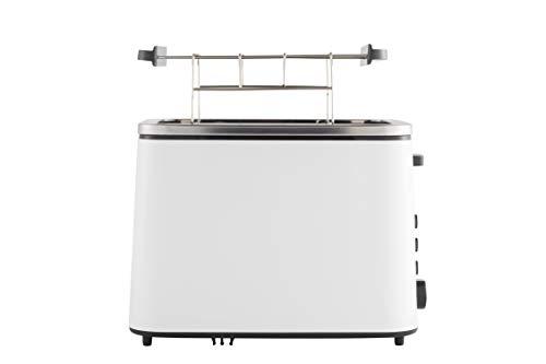 Grundig TA 5860 Toaster, 800W, 6 Bräunungsstufen, Memoryfunktion, 800, Weiß/Schwarz