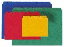 Preisvergleich Produktbild Pagna Leitregister A7 25-teilig,  aus Pressspan,  Tabe A-Z deutsches Alphabet,  grün