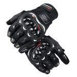 Roawon Motorcycle Gloves ATV Mountain Bike Motorcycle Racing Motorcycle Off-Road Motorcycle Riding Bicycle Bicycle Gloves (L, Black)