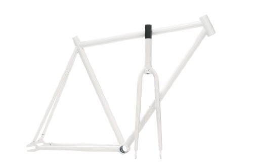 Pure Fix Original Fixed Gear Fahrrad Rahmen Set, Glow in the Dark White