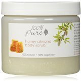 100% Pure Organic Honey Almond Body Scrub, 15 Ounce by 100% Pure