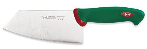 Sanelli Premana Professional Coltello Smile, Acciaio Inossidabile, Verde/Rosso, 29.0x3.0x7.5 cm