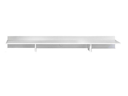trendteam Wohnzimmer TV-Aufsatz TV-Bühne TV-Brücke Vision, 180 x 19 x 40 cm in Weiß mit drei Hifi-Fächern -