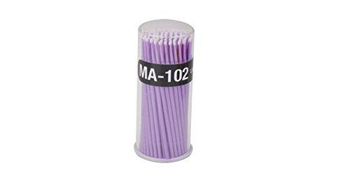 Natthom Mini Coton Écouvillon Nettoyage Bâtons Micro Brosse Jetables Accessoires de Nettoyage Mascara Extension de Cils 100 pcs (purple)