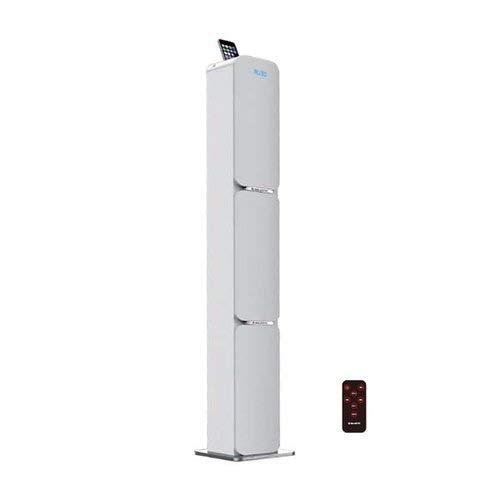 Majestic TS 89 BT USB SD AX - Altoparlanti a Torre con Bluetooth, Ingressi USB/SD/AUX-IN, Radio FM, 80watt, Telecomando, Bianco