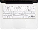 Kuzy - weiß Tastaturschutz aus Silikon für MacBook Pro 33,02 cm 38,1 cm 43,18 cm (mit oder ohne Retina Display) iMac und MacBook Air 33,02 cm (USA Tastatur Version) - - Weiß