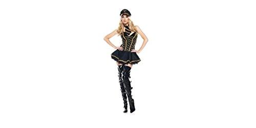 GGTBOUTIQUE Top Totty Halloween-Maskerade- Pilot Cosplay Kostüme Weibliche Modelle Helmsman FlugbegleiterinRollenspiele Disfraces Naval (Medium) (Weiblich Pilot Kostüm)
