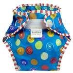 Taffeta Waterproof Diaper Wrap | Crazy Circles Blue Size , Toddler