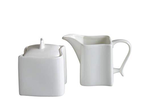 CreaTable 18536, Serie Ocean weiß, Geschirrset Milch- und Zuckerset 2 teilig