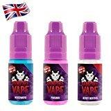 Vampire Vape E-Liquid 3x10ml - Heisenberg, Pinkman, Berry Menthol - Probierset für E-Zigaretten und E-Shishas - 0mg (ohne Nikotin) - Made in UK