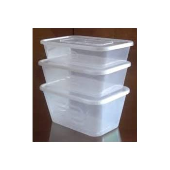GSL - 10 x Large 1000ml Reusable, Microwave, Freezer Safe Plastic Containers, Ideal for Lunch Boxes, Food Grade Microwavable Containers + Lids for Batch cooking ready meals, Chilli, pasta, rice, curry, Potatoes, Take Aways
