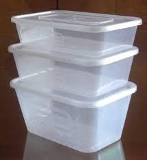 Preisvergleich Produktbild Strapazierfähige Frischhaltebox aus Plastik, mit Deckel, 1000ml Fassungsvermögen, 10 Stück