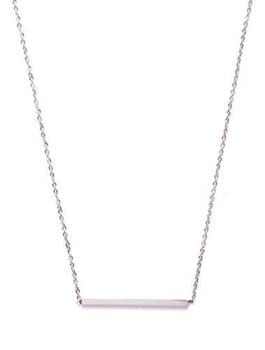 amen Minimalist Kette Trapez Bar in Silber | Titan Halskette Modeschmuck nickelfrei ()